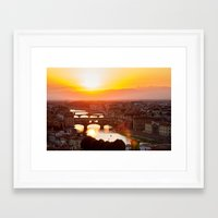 florence Framed Art Prints featuring Florence by Wei Wong