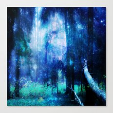 Blue night #Wood Canvas Print