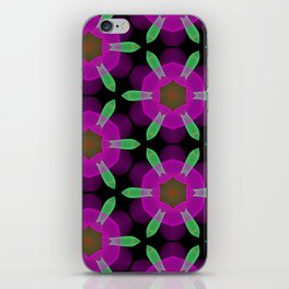 Abstract Spawning Green Fish Geometric Pattern iPhone Skin