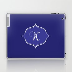 K Monogram Royal Blue Laptop & iPad Skin