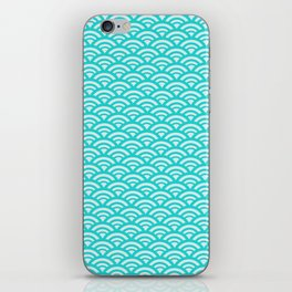 Japanese pattern turquoise iPhone Skin