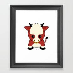 Zodiac Kawaii Ox Framed Art Print