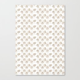 Hey pattern with girls Canvas Print