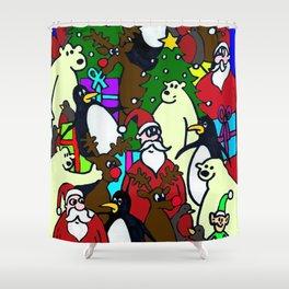Santas Grotto Shower Curtain