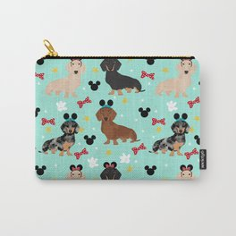 dachshund theme park vacation dogs Carry-All Pouch