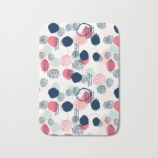 Orly - abstract painting minimal trendy girly gender neutral pattern decor Bath Mat