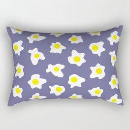 Eggs Over Blue Rectangular Pillow