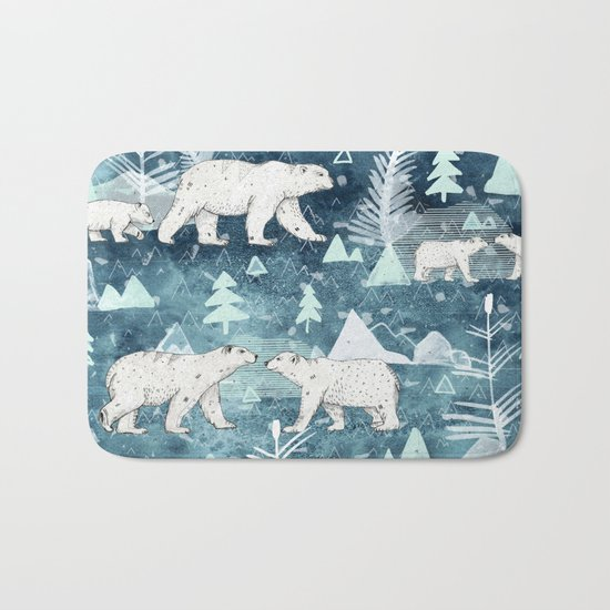 Ice Bears Bath Mat