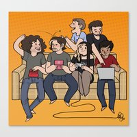 game grumps Canvas Prints featuring Game Time by bilvy