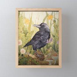 Canuck the Crow Framed Mini Art Print