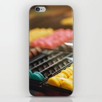 macarons iPhone & iPod Skins featuring Macarons by Laura L.
