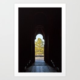 Tree in the Doorway Art Print