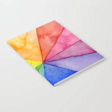 Rainbow Watercolor Geometric Pattern Notebook