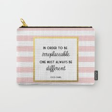 Coco Gold Pink Fashion Quote Carry-All Pouch