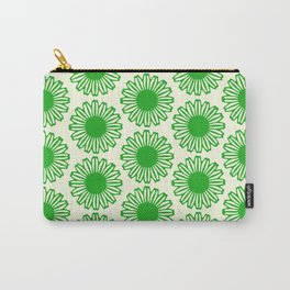 vintage flowers green Carry-All Pouch