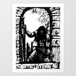Temple Thief Art Print