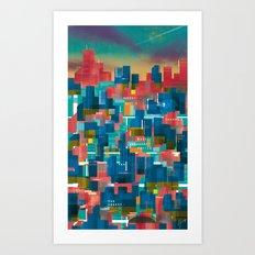 Three Yellow Dots Art Print