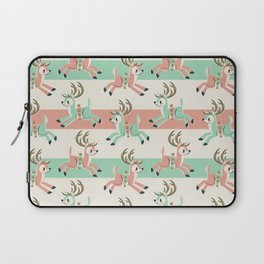 Candy Cane Reindeer Laptop Sleeve
