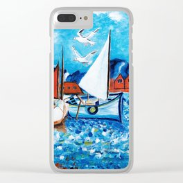 Sailboats Clear iPhone Case