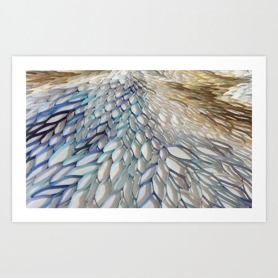 Movement in Blue Art Print