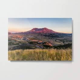 Mount St. Helens - Volcano on Summer Evening in Washington State Metal Print