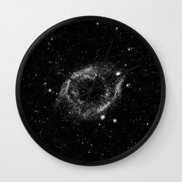 Helix Nebula Black and White Wall Clock