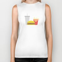junk food Biker Tanks featuring Junk Food by Paul Goerne