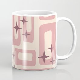 Retro Mid Century Modern Abstract Pattern 577 Dusty Rose Coffee Mug