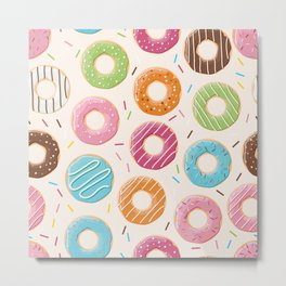 Donut pattern 001 Metal Print