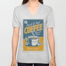 Vintage poster- Coffee Unisex V-Neck