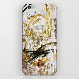 Armor [9]:a bright, interesting abstract piece in gold, pink, black and white iPhone Skin