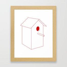 Home Sweet Birdhouse Framed Art Print