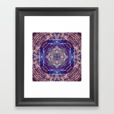 Labradorite Mandala Framed Art Print