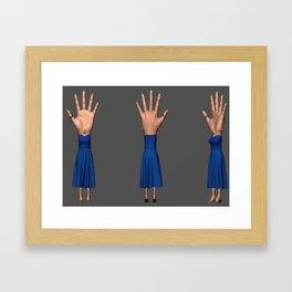 Hand-Eye-Woman Framed Art Print