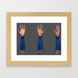 Hand-Eye-Woman Framed Art Print