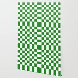 Checker (Forest Green/White) Wallpaper