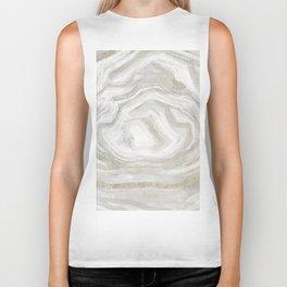 Pastel tones marble stone texture Biker Tank