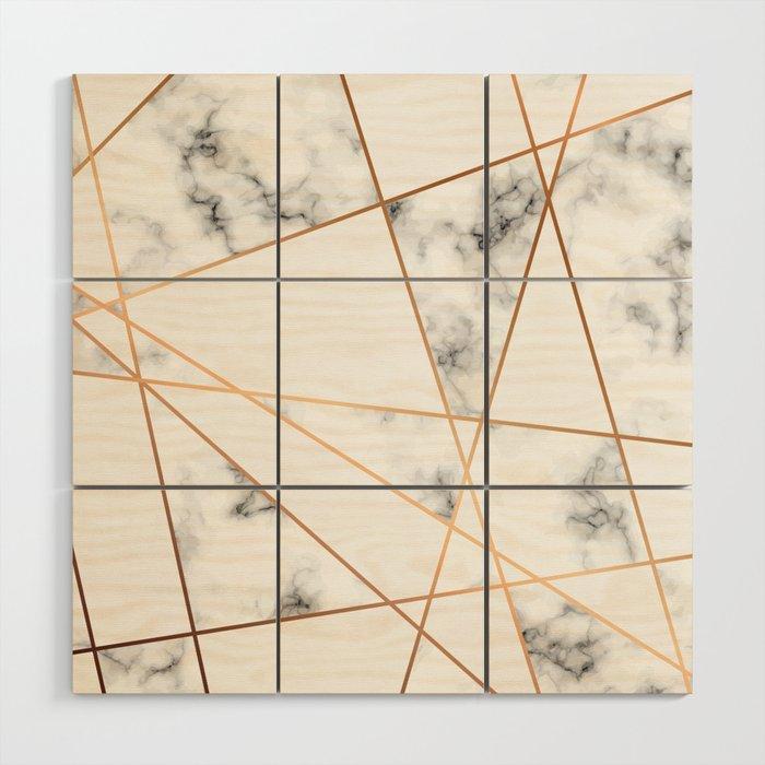 Marble Geometry 054 Wood Wall Art