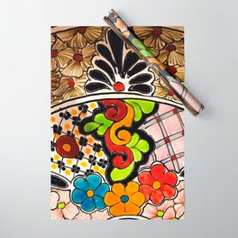 Beautiful Red and Green Talavera Wrapping Paper
