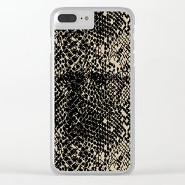 Snake Soybean Clear iPhone Case