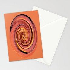 Peach twirl Stationery Cards
