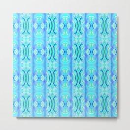 Teal and Blue Pattern 802 Metal Print