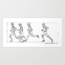 Transition through Triathlon Runners A Art Print