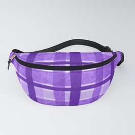 Tissue Paper Plaid - Purple Fanny Pack
