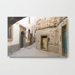 Moroccan Medina Doorways Metal Print