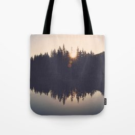 Wooded Lake Reflection  - Nature Photography Tote Bag