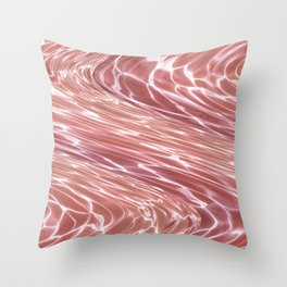 Water Waves Throw Pillow