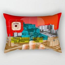 Vintage City · We build this city · Stadtplanung Rectangular Pillow