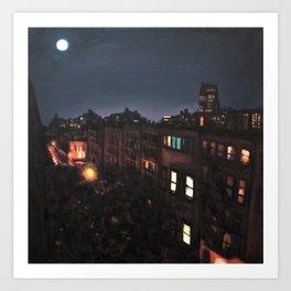 Full Moon, Chelsea Art Print