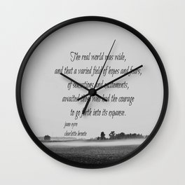 Jane Eyre World Wall Clock